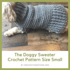 Crochet Gift Design crochet dog sweater - The Doggy Sweater Crochet Pattern by Crochet It Creations will be sure to keep your pet warm and stylish this winter! Knitting Patterns For Dogs, Crochet Dog Sweater Free Pattern, Dog Coat Pattern, Crochet Dog Patterns, Knit Dog Sweater, Free Crochet, Sweater Patterns, Knitting Ideas, Easy Crochet
