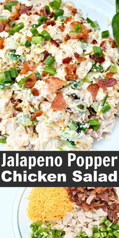 Jalapeno Poppers, Jalapeno Popper Chicken, Soup Appetizers, Appetizer Recipes, Dinner Salad Recipes, Diet Recipes, Cooking Recipes, Healthy Recipes, Quick Food Recipes