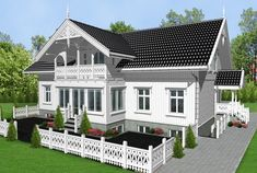 House In The Woods, Country Style, Villa, Floor Plans, Cottage, Mansions, House Styles, Outdoor Decor, Image