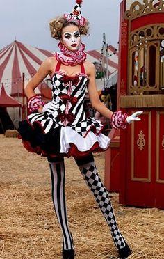Super coole Harlekin Verkleidung l Clown Kostüm l Adult Sexy Deluxe Harlequin Clown Costume l Cheap Clown Halloween Costume for Sexy Dark Circus, The Circus, Adult Circus Party, Circus Fancy Dress, Circus Birthday, Night Circus, Clown Makeup, Halloween Makeup, Clown Hair