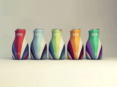 Goa healthy yogurt - Packaging Design - Bottle, Container, Fresh & Delicious, Colorful, Lines, Waves