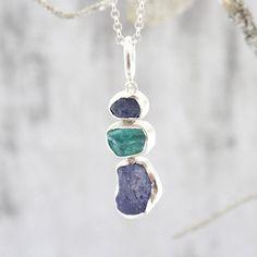 Poppy Jewellery Tanzanite And Apatite Gemstone Pendant (180 AUD) found on Polyvore