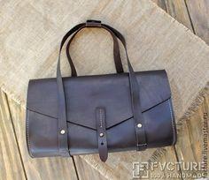 Купить Сумка из натуральной кожи ручной работы арт. HB 002 - коричневый, сумка