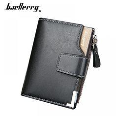 Fashion 3 Fold Hosszú luxus bőr férfi pénztárca Brand Tehén