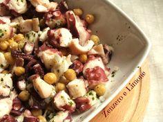 Il polpo con i ceci è un secondo piatto saporito, genuino e semplicissimo da preparare. Il sapore del mare si fonde perfettamente con quello dei legumi.