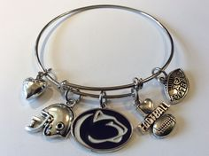 A personal favorite from my Etsy shop https://www.etsy.com/listing/273049732/we-are-penn-state-ncaa-charmed-bracelet
