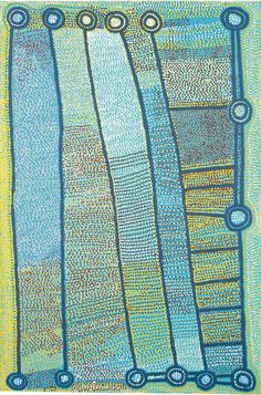 Shorty Jangala Robertson Ngapa Jukurrpa (Water Dreaming) - Puyurru  Medium: Acrylic on convas Size: 183 x 122cm Year: 2008