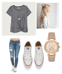 """""""Untitled #2"""" by cameron-danielle-williams on Polyvore featuring Abercrombie & Fitch, Converse, Kendra Scott and Michael Kors"""