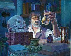 The Alchemist - Art of Jonathan Wiltshire (gouache)