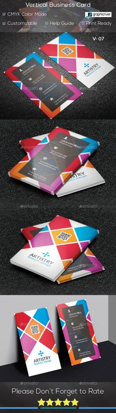Vertical #Business #Card V. 07 - Creative Business Cards