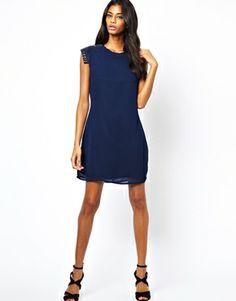 Image 4 ofLittle Mistress Shift Dress with Embellished Shoulder