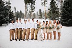 Winter Wedding Wonderland: white, gold and green