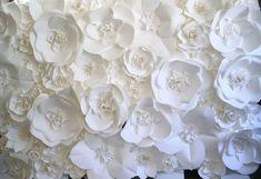 Extra nagy Papír Virág Backdrop fehér a DragonflyExpression