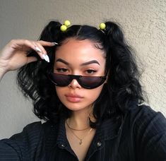 Semi Rimless Flat Top Sunglasses - Beauty Home Baddie Hairstyles, Cute Hairstyles, Creative Hairstyles, Short Hairstyles For Men, Latina Hairstyles, Side Curly Hairstyles, Quince Hairstyles, Relaxed Hairstyles, Vintage Hairstyles Tutorial