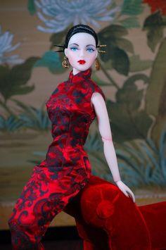 JAMIEshow Gene Marshall ~ 'Phoenix' in Qipao dress ~ Image and styling by Pamnaz ~ The Studio Commissary