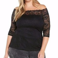 Roxanna in Lace Off-the-Shoulder Top