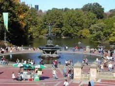 Bethesda Fountain, Central Park--  see the movie: Enchanted