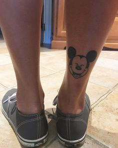 the perfect mickey tattoo ! #disneytattoos done by @chasenothingbutdreams