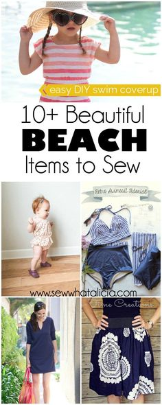 10+ Beautiful Beach Appropriate Sewing Tutorials | Start sewing early to make sure you have everything you need for the beach! Heading out to a tropical location to get away from the winter weather? Click through for lots of great beach appropriate sewing tutorials! www.sewwhatalicia.com