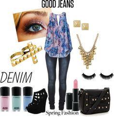 """""""Good Jeans"""" by stylestar97 ❤ liked on Polyvore"""
