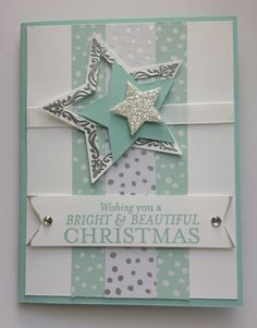 Resultado de imagen para card making ideas christmas stampin up Christmas Card Crafts, Homemade Christmas Cards, Printable Christmas Cards, Christmas Cards To Make, Homemade Cards, Handmade Christmas, Beautiful Christmas Cards, Christmas Star, Christmas Ideas
