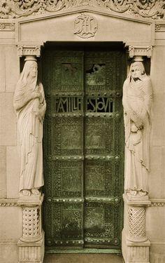 Crypt doors at Pere Lachaise in Paris.