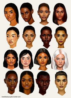 Different Skin Tones Digital Painting Tutorials, Digital Art Tutorial, Art Tutorials, Buch Design, Art Drawings Sketches, Drawing Techniques, Art Tips, Art Inspo, Art Reference