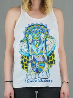 98a30626e00ed Positive Vibes Just Love Flowy Racerback tank-top! Summer Vibes Electro  Threads, Summer