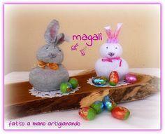 magalì : coniglietti facili facili con un doppio riciclo…le istruzioni… e qualche ricordo…