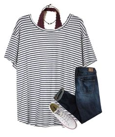 """{kinda grunge}"" by southerngirl03 ❤ liked on Polyvore featuring Hollister Co., Organic by John Patrick, American Eagle Outfitters and Converse"