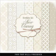 Far Far Hill: New Freebies Kit of Paper - Snow Clearing