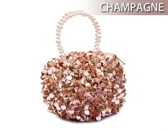 Toptie Beaded Handle Cute Round Purse Evening Bag - Wholesale