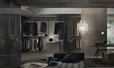 Dress Bold Walk-In Wardrobe Rimadesio Walk In Wardrobe, Bedroom Wardrobe, Wardrobe Design, Walk In Closet, Sliding Door Design, Sliding Panels, Sliding Doors, Vintage Bedroom Styles, Bedroom Vintage
