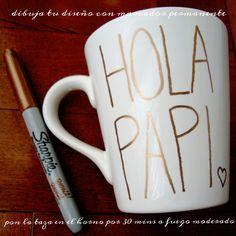 [HACER] DIY para Día del Padre – taza decorada con Sharpie (