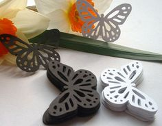 50 Large Butterfly Punches Mixed Black and by ShoestringCottage, $3.50