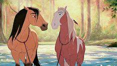 Spirit Stallion of the Cimarron (GIF), I can literally hear the music 😍😍😍 Spirit Horse Movie, Spirit The Horse, Spirit And Rain, Realistic Pencil Drawings, Horse Drawings, Cute Drawings, Dreamworks Animation, Disney And Dreamworks, Horse Movies