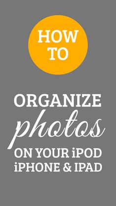 There are several ways to organize your photos. Some of you may choose to  use an app likeDropBox, some may use iPhoto for Mac, or perhaps just the  standard folder system on your computer. There are many ways to organize  them after you transfer them to your computer, but what if you want to  organize your photos directly in your iPhone prior to transferring them?  Here are some easy steps on how to create a folder for your photos and how  you can move them to the new folder:     1. On ...