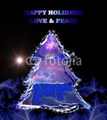 Happy holidays, love and peace wishes