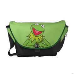 Kermit the Frog Messenger Bag  Click on photo to purchase. Check out all current coupon offers and save! http://www.zazzle.com/coupons?rf=238785193994622463&tc=pin