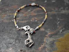 Giraffe and Gemstone Bracelet by Wildharegems on Etsy