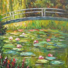 Resultado de imagem para claude monet the waterlily pond green harmony Monet Paintings, Impressionist Paintings, Paintings I Love, Beautiful Paintings, Landscape Paintings, Claude Monet, Les Nénuphars Monet, Artist Monet, Monet Water Lilies