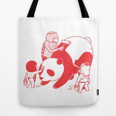 panda, gatpa, red drawing, illust, tote bag, eco bag