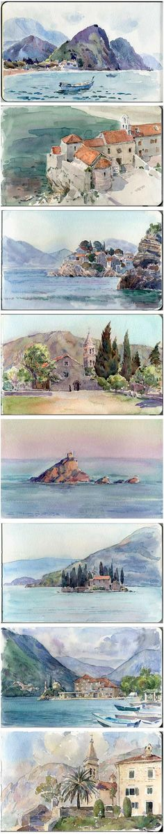 plein air watercolor sketches by ~art-bat on deviantART: