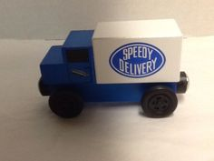 Speedy Delivery Truck Thomas and Friends Compatible 2004 Blue White #FamilyCommunicationsInc