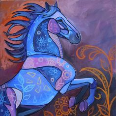 Stained Glass Horses series by Morian