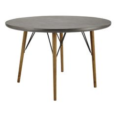 Wooden round dining table D ... - Cleveland