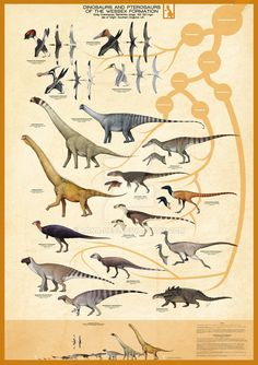 Here is my first poster of geological formations with ornithodiran fossils. In this case the Wessex Formation. Included in this poster and various. Dinosaurs and Pterosaurs of the Wessex Formation Dinosaur Posters, Dinosaur Art, Dinosaur Drawing, Dinosaur Crafts, Prehistoric Creatures, Mythological Creatures, Flying Monsters, Feathered Dinosaurs, In The Zoo
