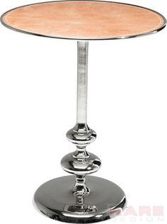 Side Table Swing Leather Ø55cm