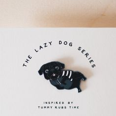 Oh Pin/ Lazy Pug by ohpopdog on Etsy