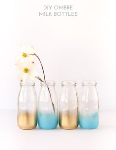DIY Ombre Milk Bottles-- materials available as a kit!